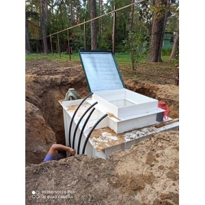 Монтаж: погреб-кессон для скважины